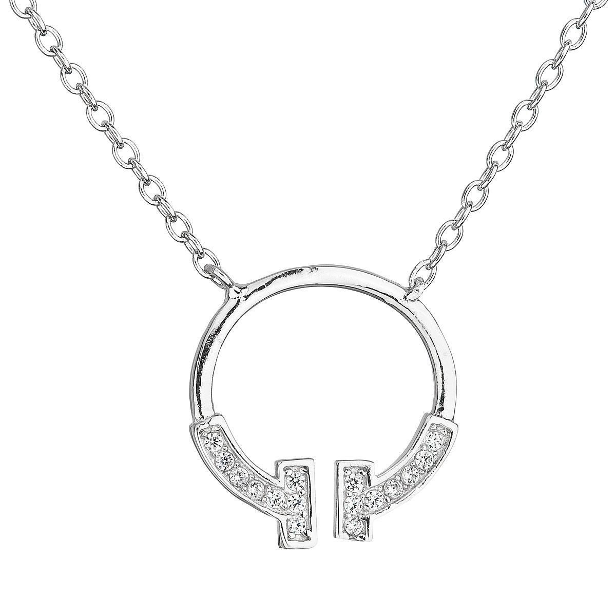 Stříbrný náhrdelník se zirkony EG4079