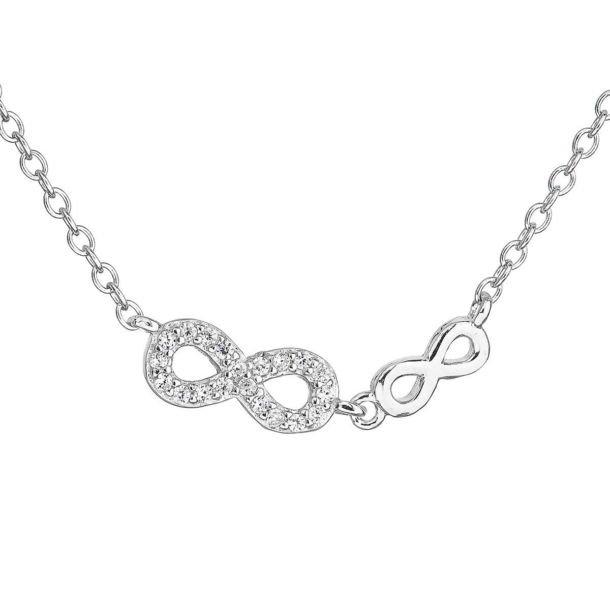Stříbrný náhrdelník INFINITY - nekonečno EG4051