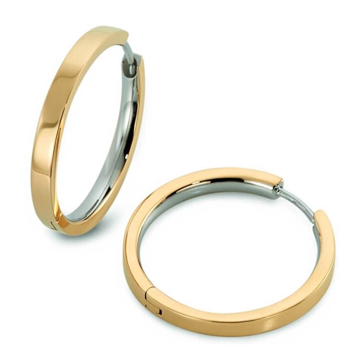 Titanové náušnice kruhy zlacené 0517-10 B0517-10