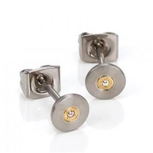 Titanové náušnice s diamantem 0545-02