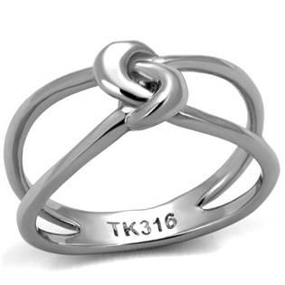 Ocelový prsten propletený