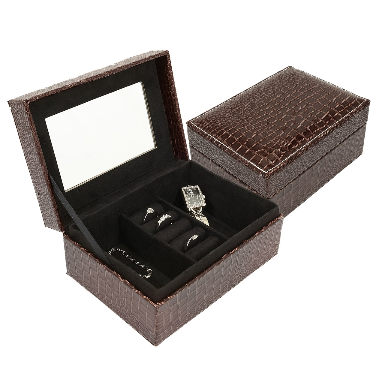 Šperkovnica - hnedá koženka