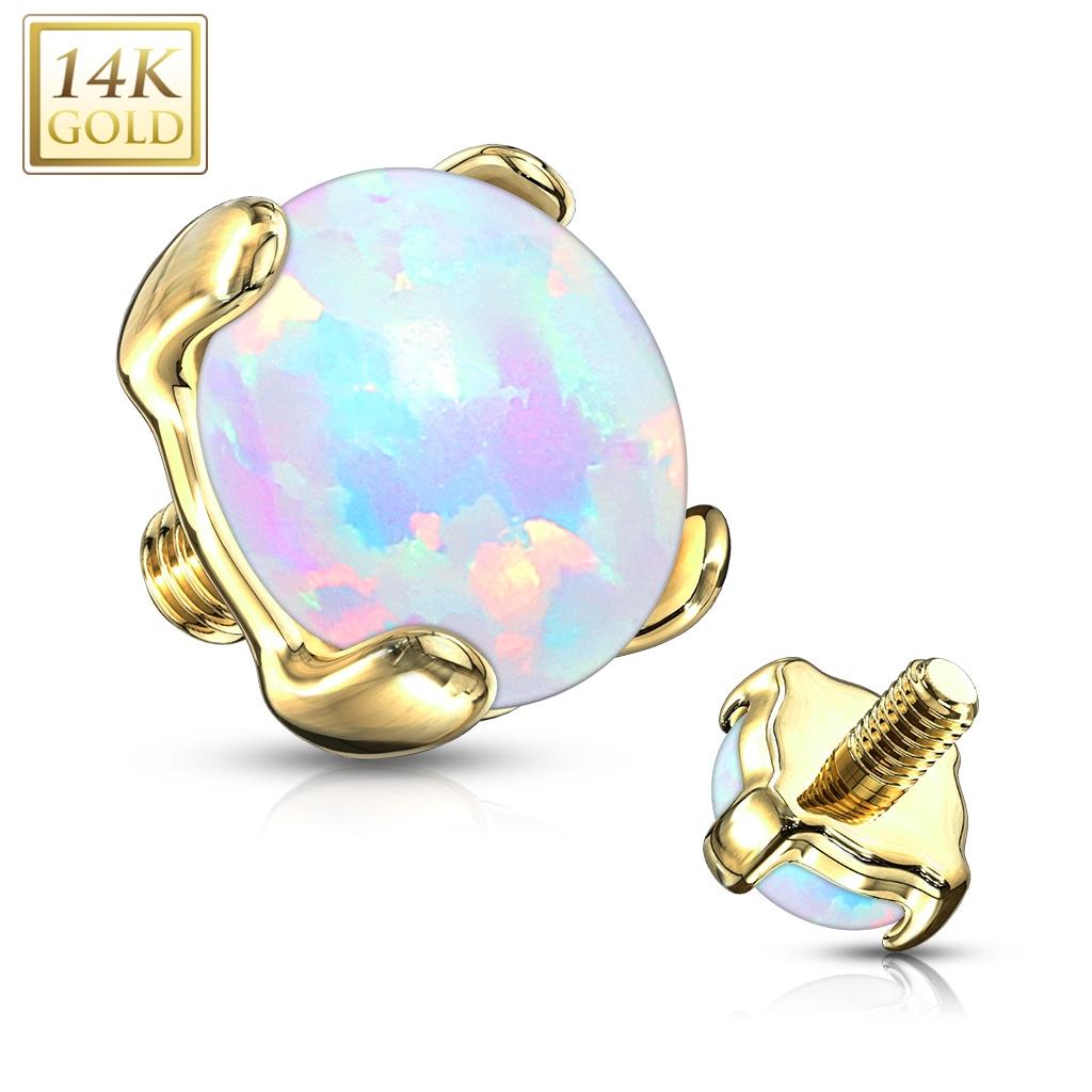 Zlatý piercing - dermál opál, Au 585/1000 ZL01051-04-YG