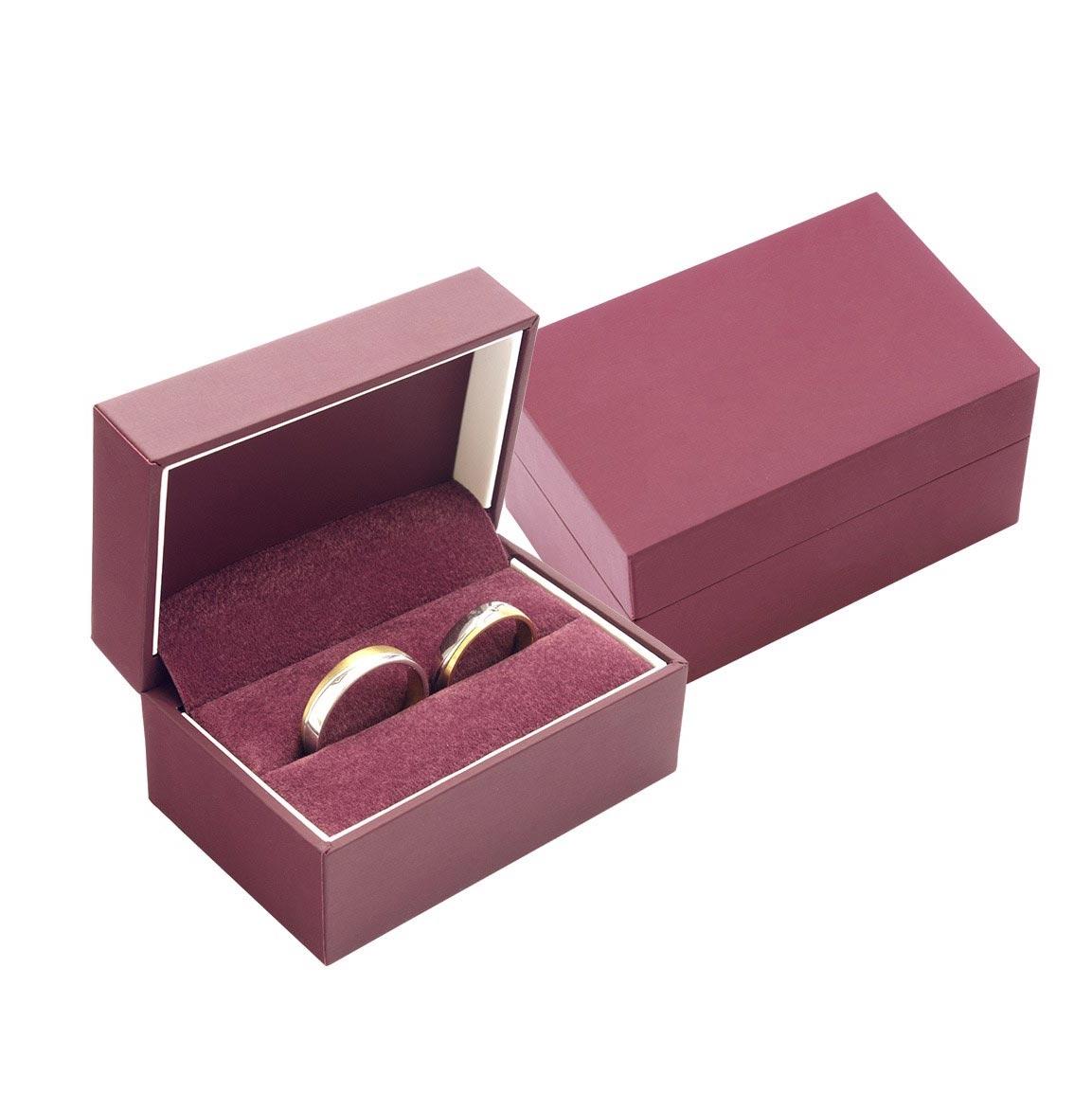 Darčeková krabička na snubné prstene - bordó