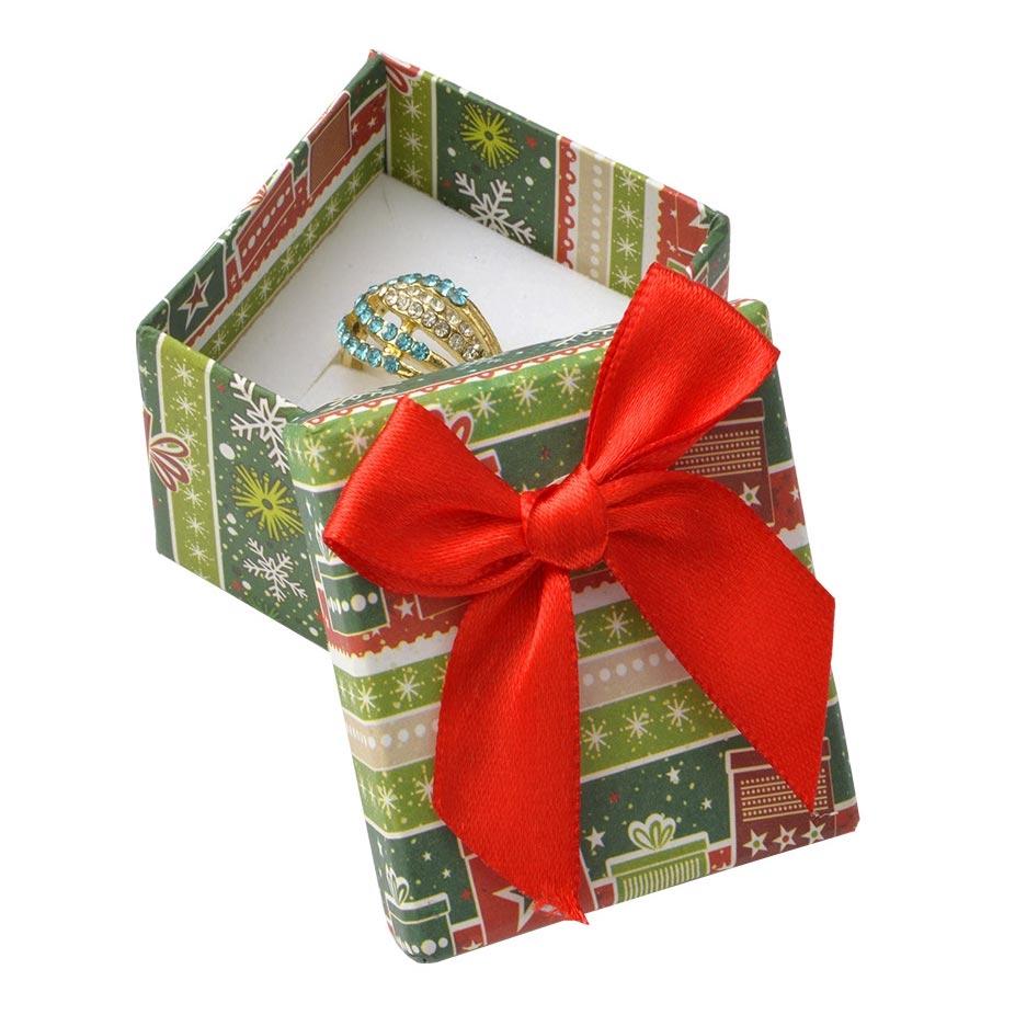 Vánoční dárková krabička na prsten