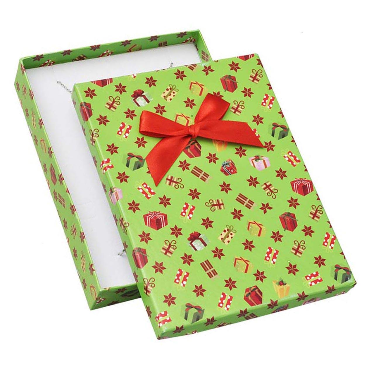 Veká vánoční dárková krabička na soupravu šperků
