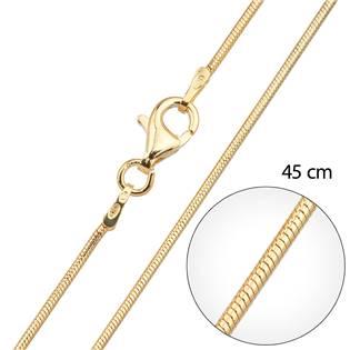 Pozlacený řetízek kulatý délka 45 cm