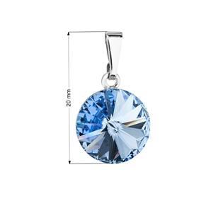 Přívěsek bižuterie se Swarovski krystaly, Light Sapphire