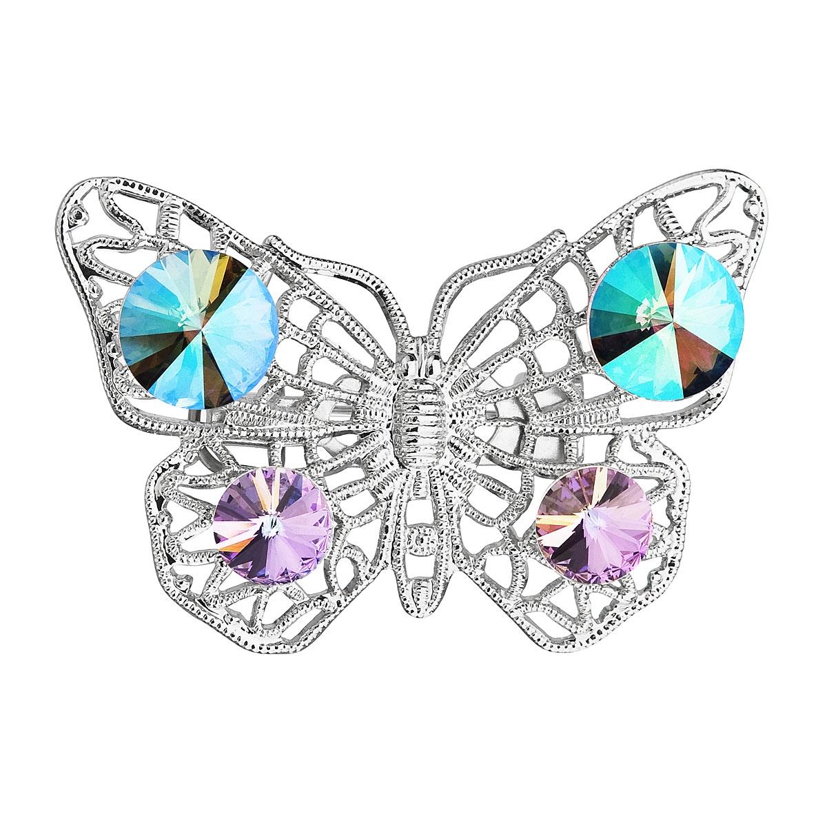 Brošňa motýľ s kamienkami Crystals From Swarovski ®
