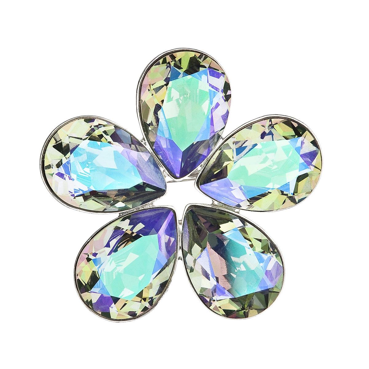 Brošňa kytička s kamienkami Crystals From Swarovski ®