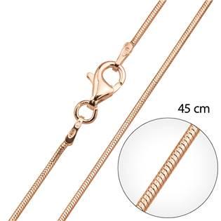 Růžové zlato řetízek kulatý délka 45 cm