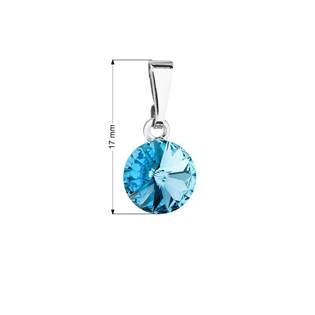 Přívěsek bižuterie se Swarovski krystaly, Aquamarine