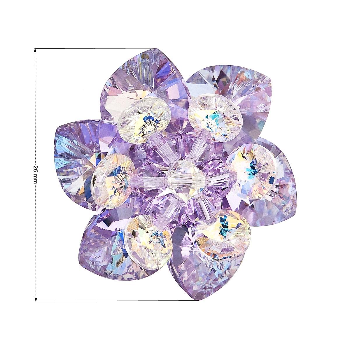 Brošňa kvietok s kamienkami Crystals From Swarovski ®