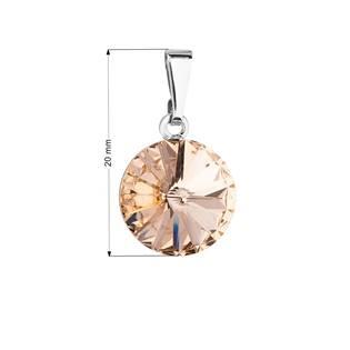 Přívěsek bižuterie se Swarovski krystaly: Light Peach
