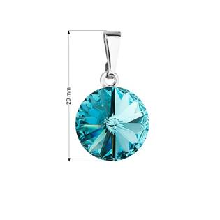 Přívěsek bižuterie se Swarovski krystaly, Light Turquoise