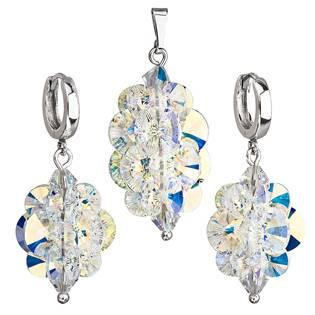 Sada šperků hrozen s kameny Crystals from Swarovski® AB