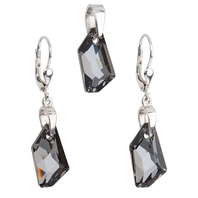 Sada šperků s kameny Crystals from Swarovski® Silver Night EG3026-SN