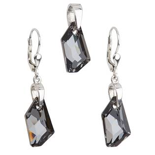 Sada šperků s kameny Crystals from Swarovski® Silver Night