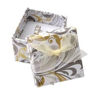 Dárková krabička na prsten s mašlí