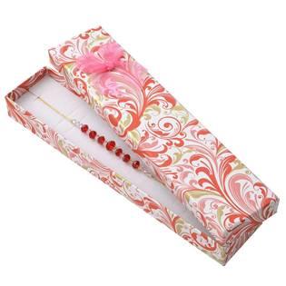 KR0298 Dárková krabička na náramek s růžovou mašlí