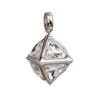 Stříbrný přívěsek s krystaly Swarovski bílý