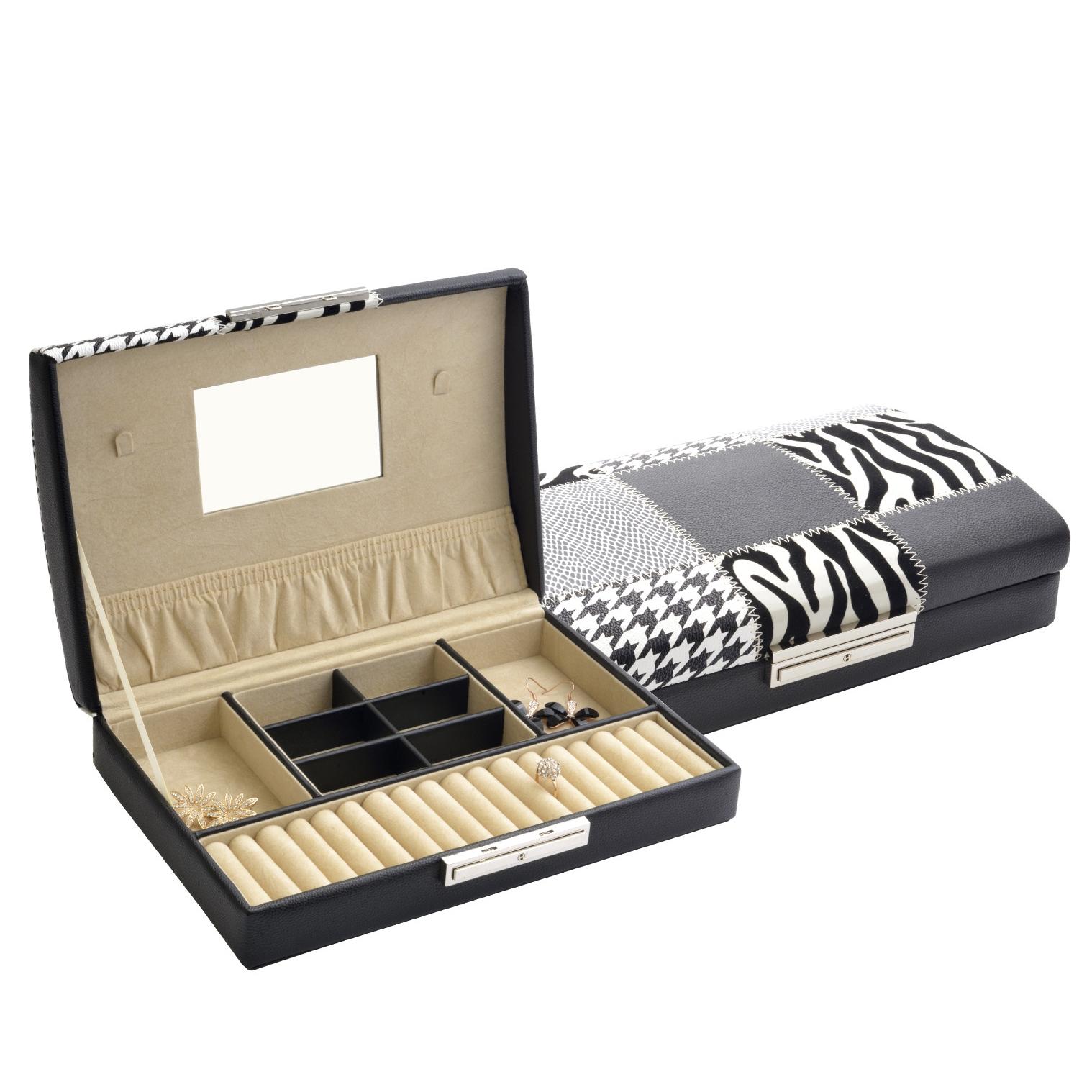 Šperkovnice koženková - černá SVK1149