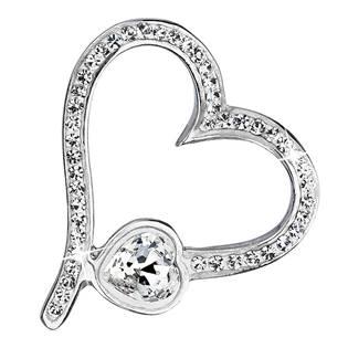Stříbrný přívěšek srdce s kamínky Crystals from Swarovski®