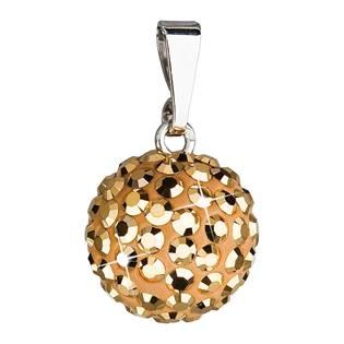 Stříbrný přívěšek s kulička Crystals from Swarovski® Gold