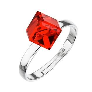 Stříbrný prsten s kostkou Crystals from Swarovski® Siam