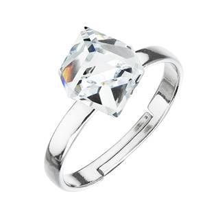 Stříbrný prsten s kostkou Crystals from Swarovski® Crystal