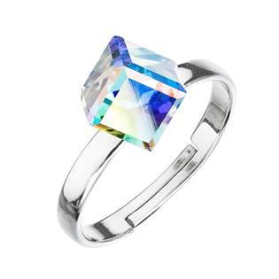 Stříbrný prsten s kostkou Crystals from Swarovski® AB
