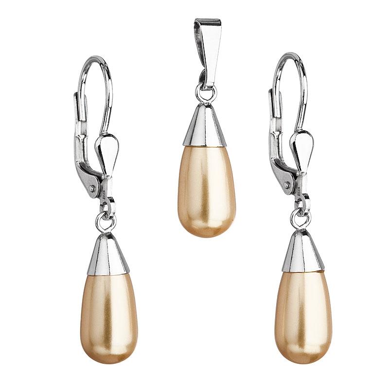 Sada šperkov s perlami Crystals from Swarovski ® Gold