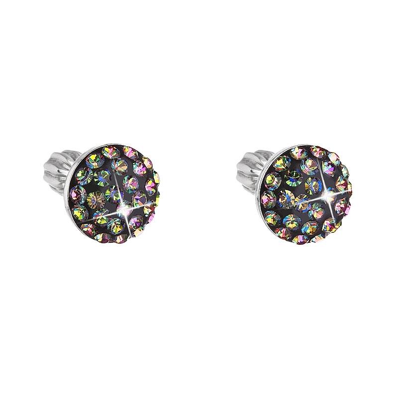 Stříbrné náušnice s krystaly Crystals from Swarovski® Vitrail Medium EG2008-VM