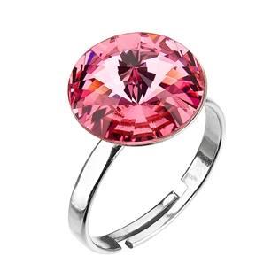 Stříbrný prsten s kamenem Crystals from Swarovski® Rose
