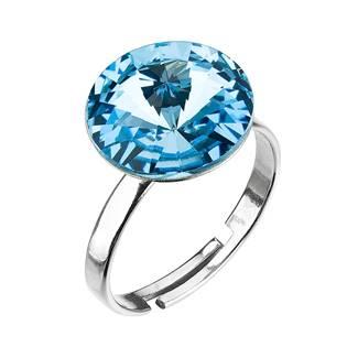 Stříbrný prsten s kamenem Crystals from Swarovski® Aqua