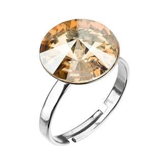 Stříbrný prsten s kamenem Crystals from Swarovski® Gold Shadow
