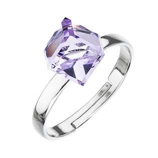 Stříbrný prsten s kostkou Crystals from Swarovski® Violet
