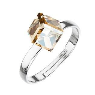 Stříbrný prsten s kostkou Crystals from Swarovski® Gold Shadow