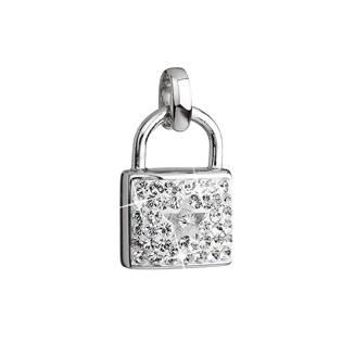 Stříbrný přívěsek s krystaly Swarovski bílý zámek