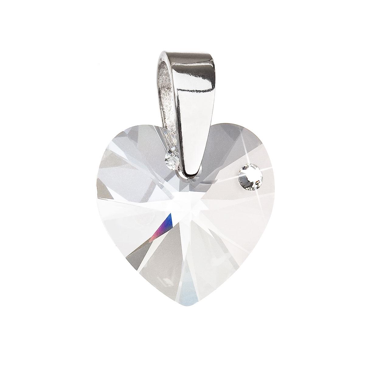 Stříbrný přívěsek srdce Crystals from Swarovski® Crystal