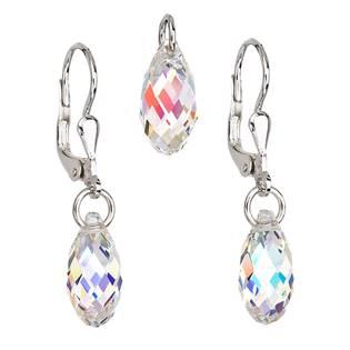 Stříbrný set náušnic a přívěšku s krystaly Crystals from Swarovski® AB