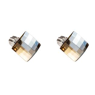 Stříbrné náušnice s krystaly Crystals from Swarovski®, Gold Shadow