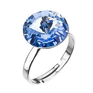 Stříbrný prsten s kamenem Crystals from Swarovski® Light Sapphire