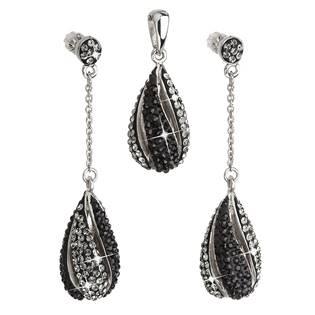 Sada šperků slzy Crystals from Swarovski® Blck Diamond