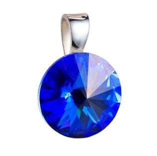 Stříbrný přívěšek rivoli Crystals from Swarovski® Sapphire