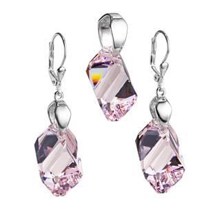 Sada šperků s kameny Crystals from Swarovski® Light Amethyst