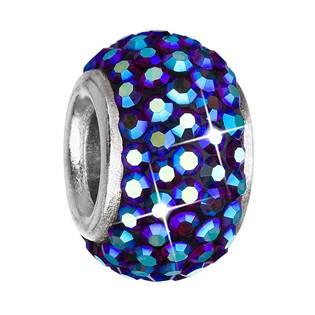 EVOLUTION GROUP CZ Stříbrný přívěšek korálek Crystals from Swarovski® Bermuda Blue - 734083.5 Bermuda Blue