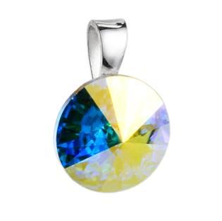Stříbrný přívěšek rivoli Crystals from Swarovski® AB