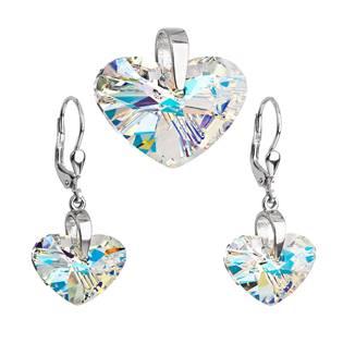 Sada šperků se srdíčky Crystals from Swarovski® AB