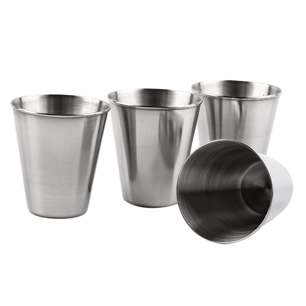 Kapesní nerezový pohárek - kalíšek 70ml